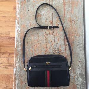 Vintage Gucci Black Ophidia GG Camera Bag